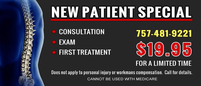 New Patient Chiropractic Special - Consult, Xray, Exam + 1st treatment 19.95